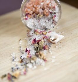 Rose bath salts...